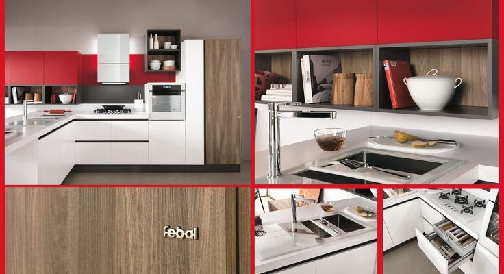 A splash of red for our #Love #Colour in the #Kitchen month. #Eurocasa