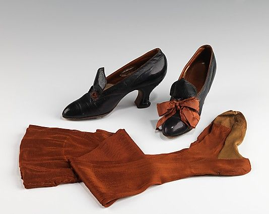 Ensemble - stocking and shoes - 1912-13 - by Lord & Taylor (American