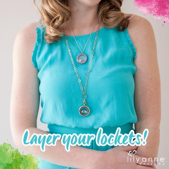 Layer your lockets!   www.lilyannedesigns.com.au   #LilyAnneDesigns #PersonalisedLockets