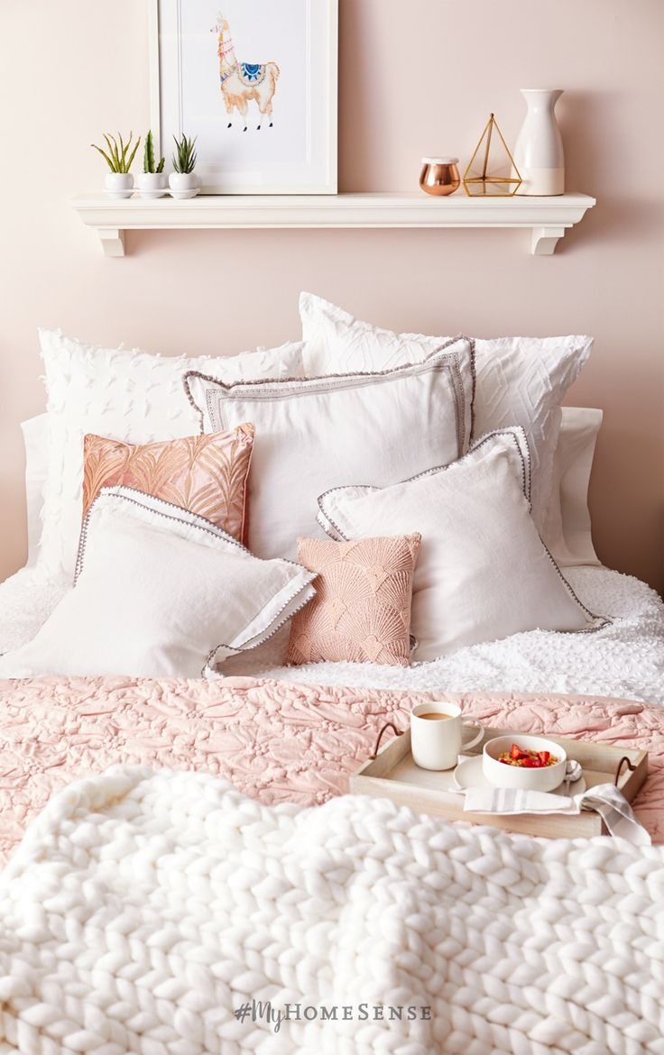 Sleep tight in blush pink & bright white. Fall in love with dreamy #MyHomeSense bedding with even dreamier prices, like sheet sets starting at $14.99. Find a HomeSense near you now.