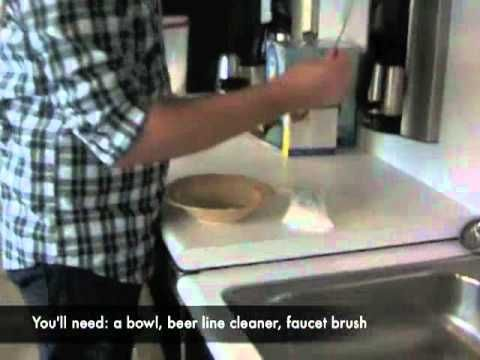 how to clean a kegerator beer line