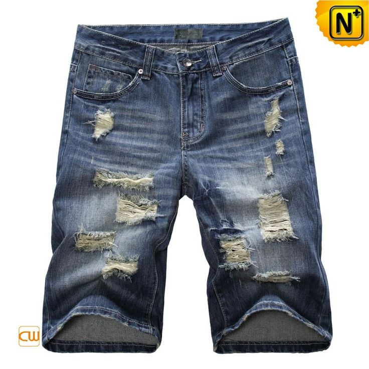 Ripped Denim Jean Shorts for Men CW100049  Our perfect fit ripped denim jean shorts for men offer styles you'll want to wear everywhere, best looking fashion summer menswear mens blue denim jean shorts made from 100% cotton!