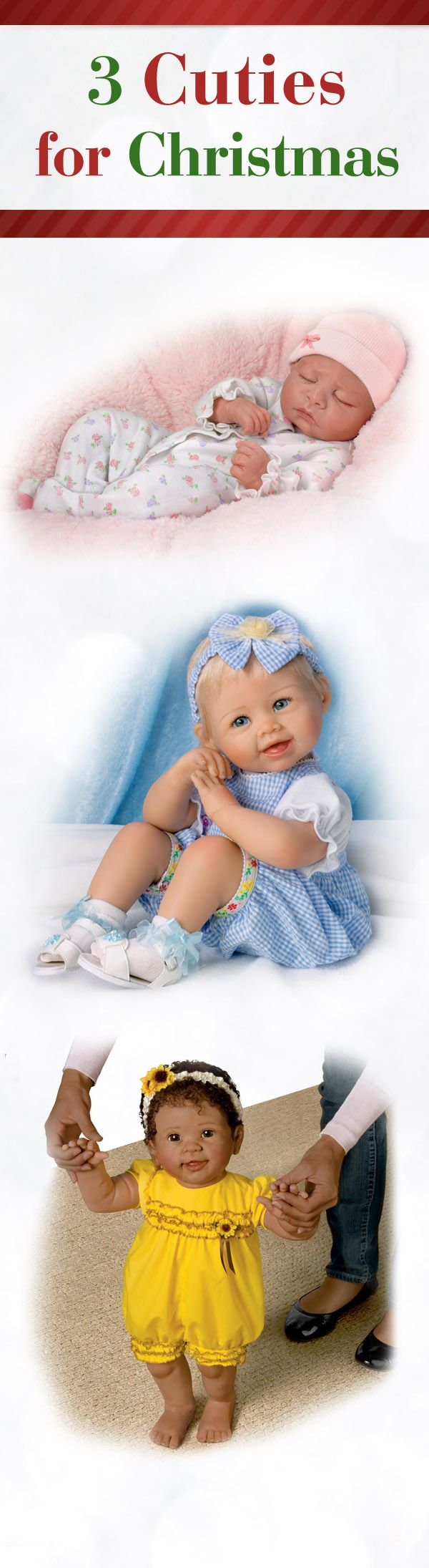 Which lifelike baby doll catches your eye?