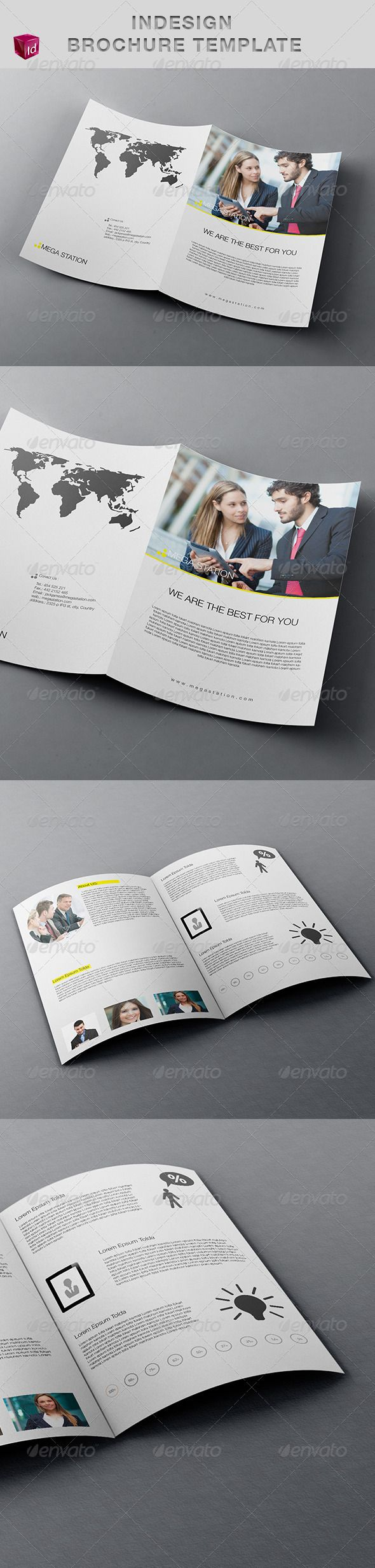 Bi-Fold Brochure Indesign Template   #GraphicRiver           	   	 Bi-Fold Brochure Indesign Template  	 Compatibility:  	 - Adobe Indesign CS4, CS5, CS6  	 Content:  	 - Bi-Fold Brochure 4 pages - Very easy to change or edit info - Fully layered cmyk - ready for printing - easy to add your own photos  	 Font Used:  	 - helvetica  	 you can find fonts here:  	 -  .myfonts /fonts/adobe/helvetica/  	 don't forget to rate my item  	 for any help you can feel free to message me directly :))…