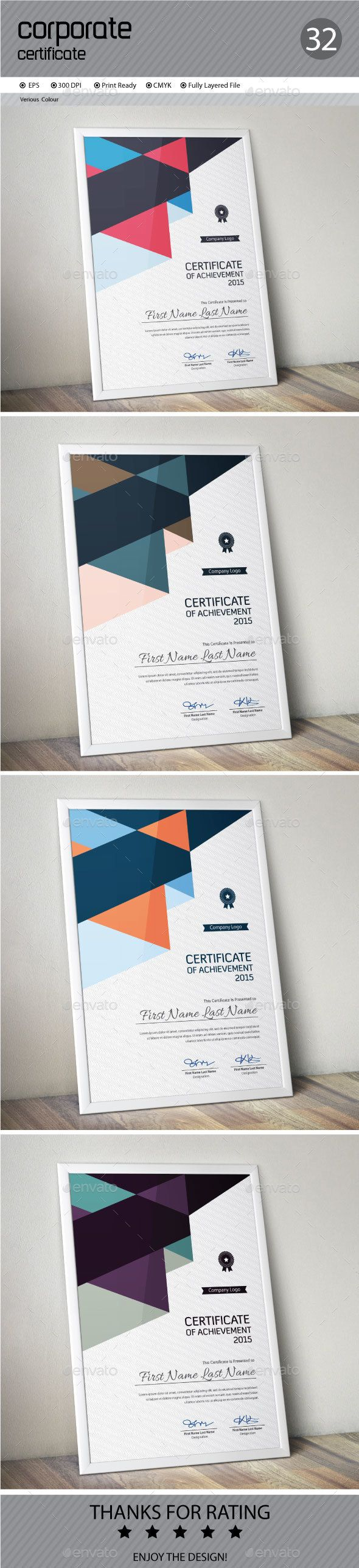 21 best modern certificate design images on pinterest certificate certificate template vector eps download here httpgraphicriver yadclub Choice Image