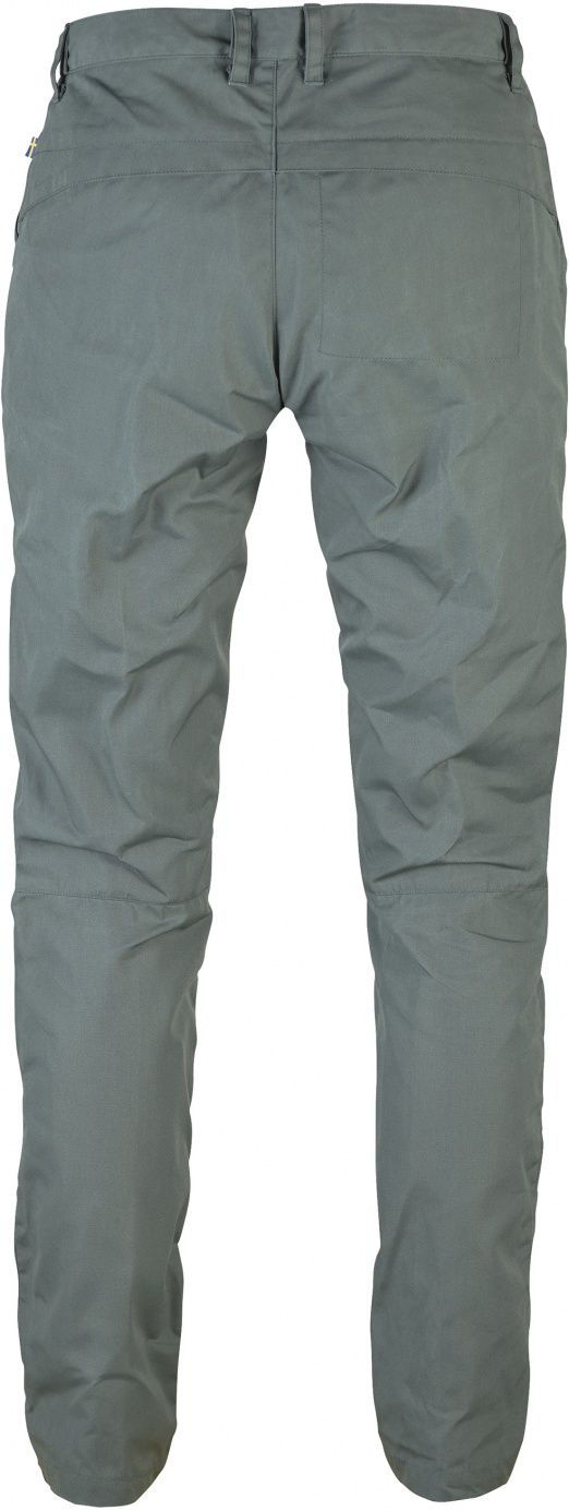 Hardwearing outdoor trousers for light trekking and general outdoor life. A fall version of High Coast Trousers W, here in G-1000 Eco for a little more protection from weather and wind. Clean design and slightly tapered legs.65% recycled p