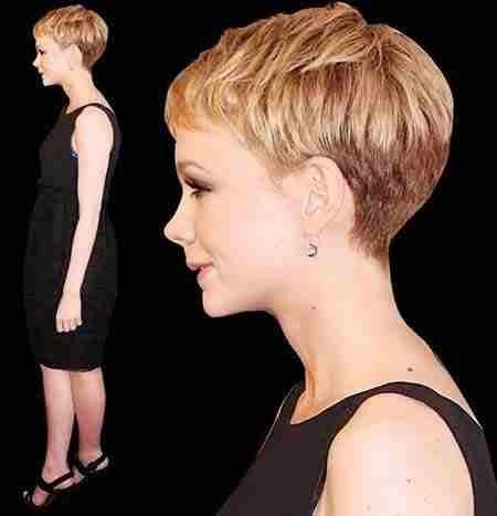 Short Blonde Gorgeous Bangs Pixie imgc555395246265434f