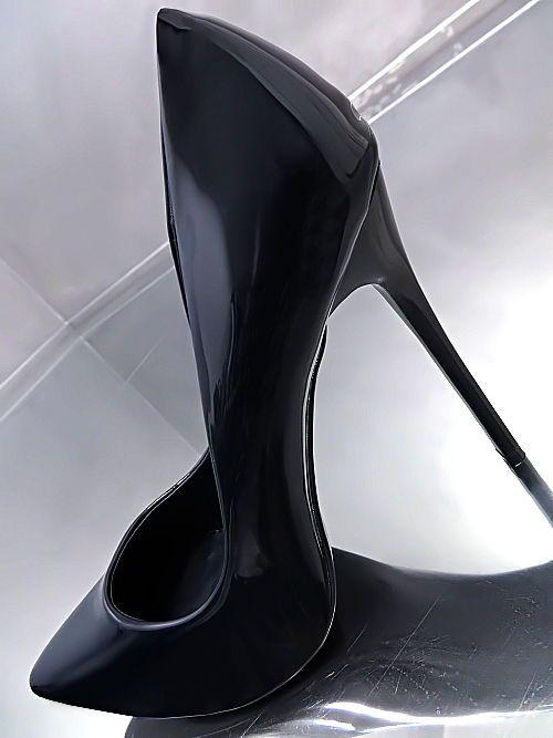NEU 2017 HOHE LACK Stiletto Luxus Pumps Damen O65 Schuhe High Heels Dunkel Blau