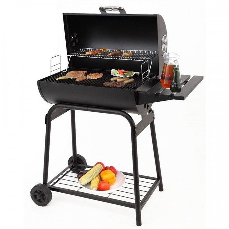 Charcoal BBQ Grill Garden Outdoor Barbecue Patio Barbeque Cooking Portable Black #CharcoalBBQGrill