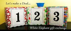 Let's Make a Deal Game. This would be such a fun activity for Christmas.