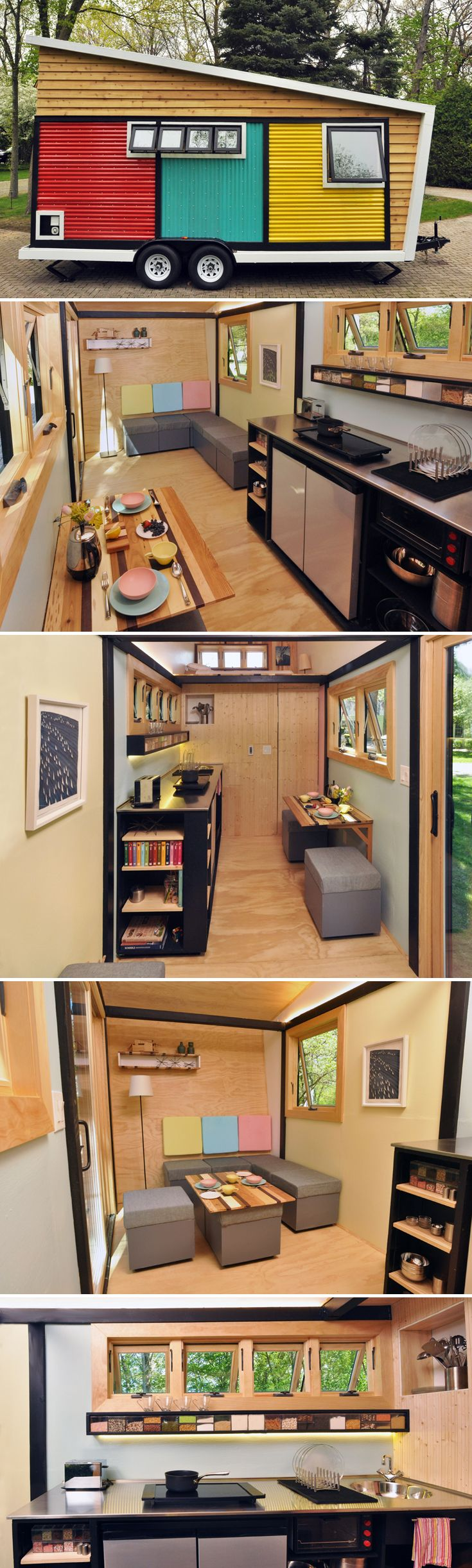 The Toy Box Tiny Home is a whimsical, colorful tiny house that combines modern design with ecologically responsible materials.
