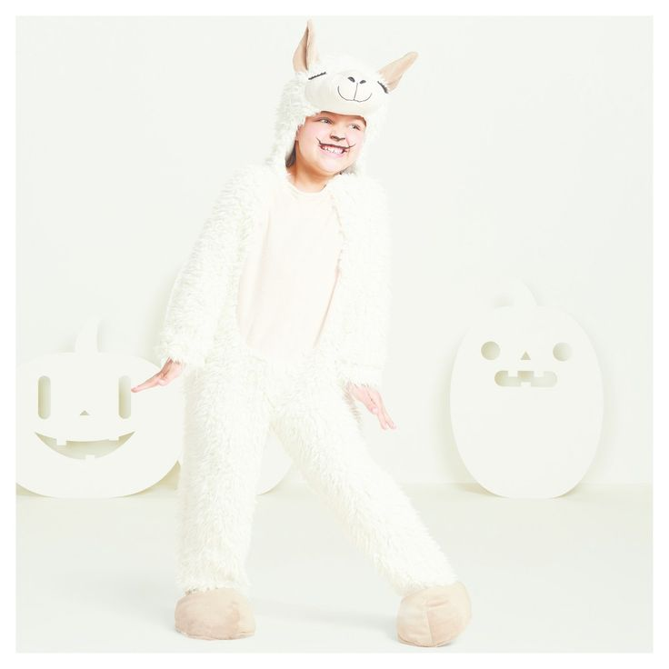 Toddler Plush Llama Costume 4T-5T - Hyde and Eek! Boutique, Toddler Unisex, Off-White Beige