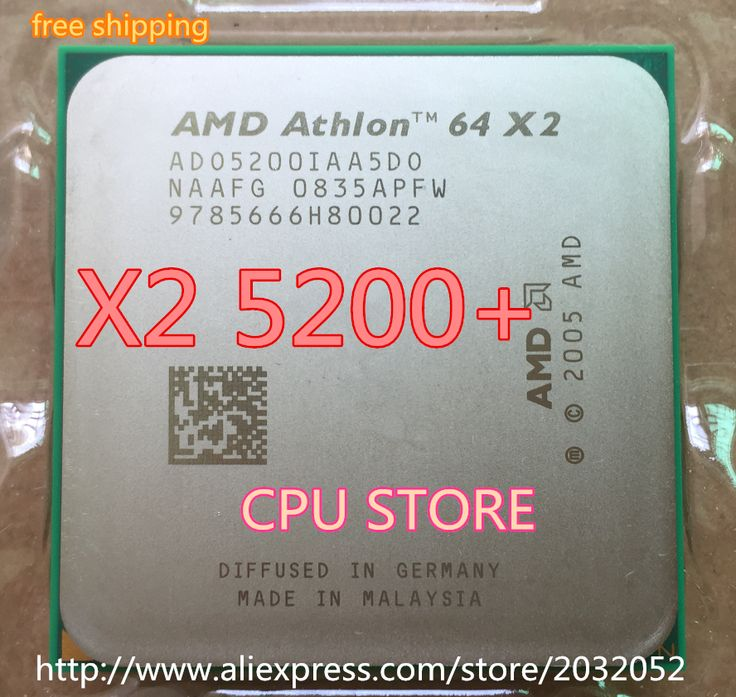 AMD Athlon 64 X2 5200+  5200 2.7Ghz 1MB Cache AM2 socket 940 pin Dual core Desktop CPU processor Free Shipping Sell X2 5000 5400 #men, #hats, #watches, #belts, #fashion, #style