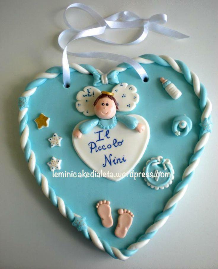 "Cuore nascita ""Angioletto"", in pasta di mais. www.leminicakedialeta.wordpress.com Info: leminicakedialeta@gmail.com"