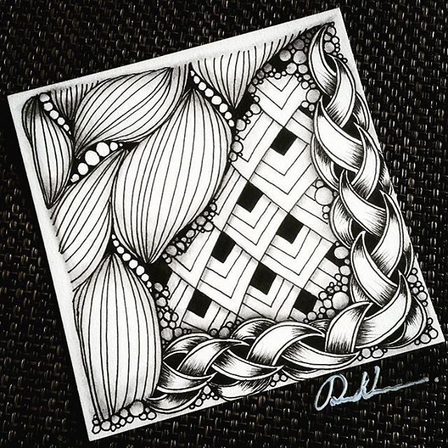 Zentangle 081615. Welcome to visit my FB Page…