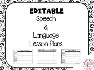 9 best early intervention speech therapy ideas images on for Speech pathology lesson plan template