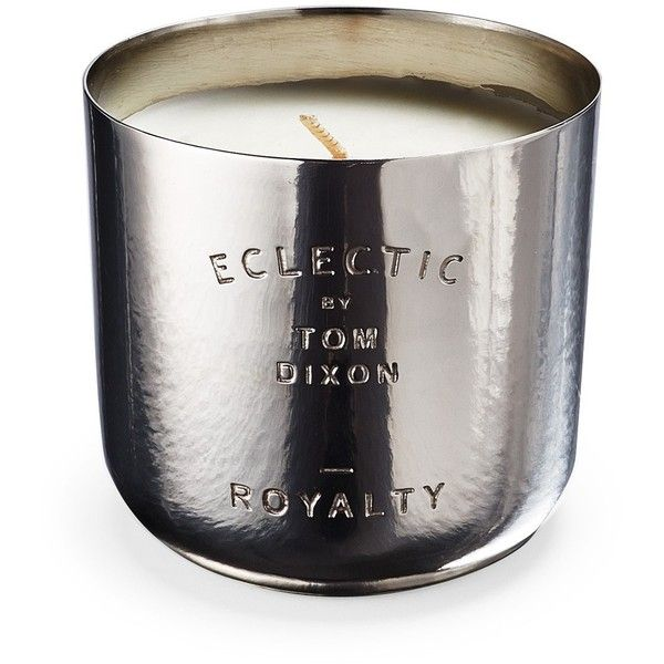 Tom Dixon Eclectic Collection Royalty Nickel Candle ($56) ❤ liked on Polyvore featuring home, home decor, candles & candleholders, scented candles, eclectic home decor, tom dixon and fragrance candles