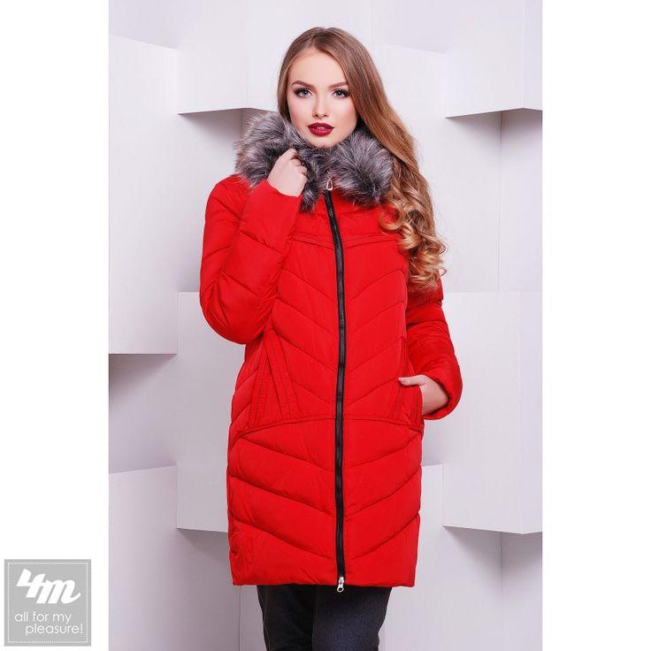 Куртка Glem «8116» (Красный) http://lnk.al/3FjT   верх: 100% полиэстер  подкладка: 100% полиэстер  наполнитель: силикон  отделка: искусственный мех