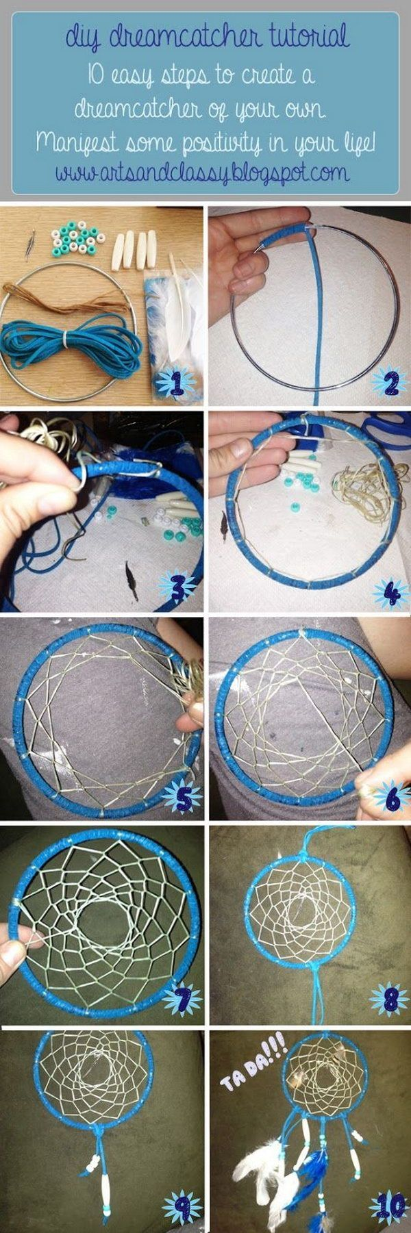 DIY Traditional Dream Catcher - Noted List.
