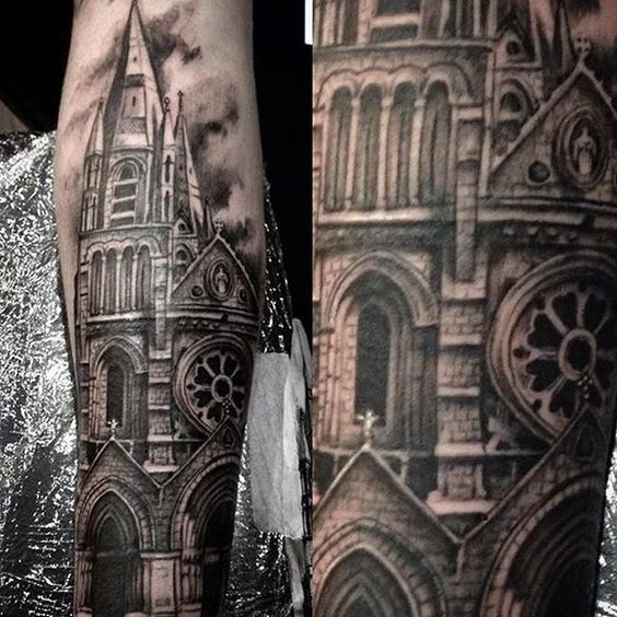 40 best gothic church tattoo images on pinterest church
