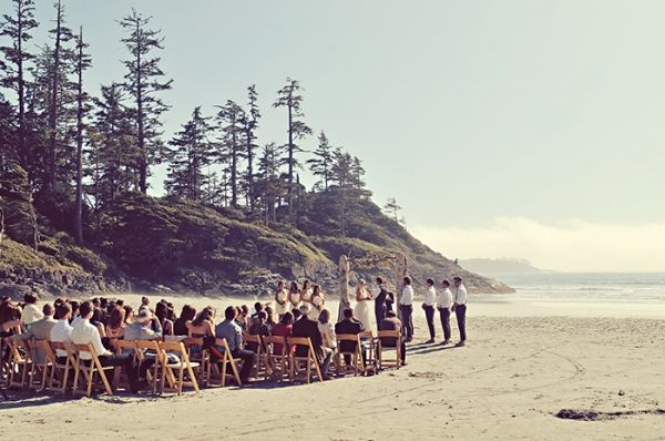 Columbia beach wedding