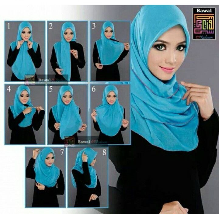 Hijab tutorial // This is actually one of my favorite styles but omg look at her eyes!! Awesome!!  Check out our hijab tutorial http://www.lissomecollection.co.uk