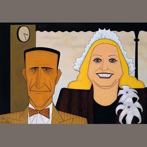 John Brack ~ The jockey and his wife, 1953