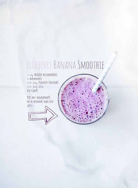 Blueberry Banana Smoothie | Call Me Cupcake by decor8, via Flickr
