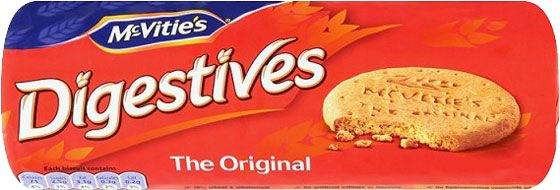 Mc Vities Digestive 400g (14.1oz) $2.99 - McVitie's biscuits have been enjoyed by generations for over 100 years. The first ever digestive biscuit was created by a new young employee Alexander Grant. The name Digestive was derived from its high content of baking soda as an aid to food digestion. Over one hundred years later the McVitie's Digestive remains a firm favourite and is the highest selling brand in the everyday biscuit segment. - See more at: http://www.foodireland.com/p/510700.html