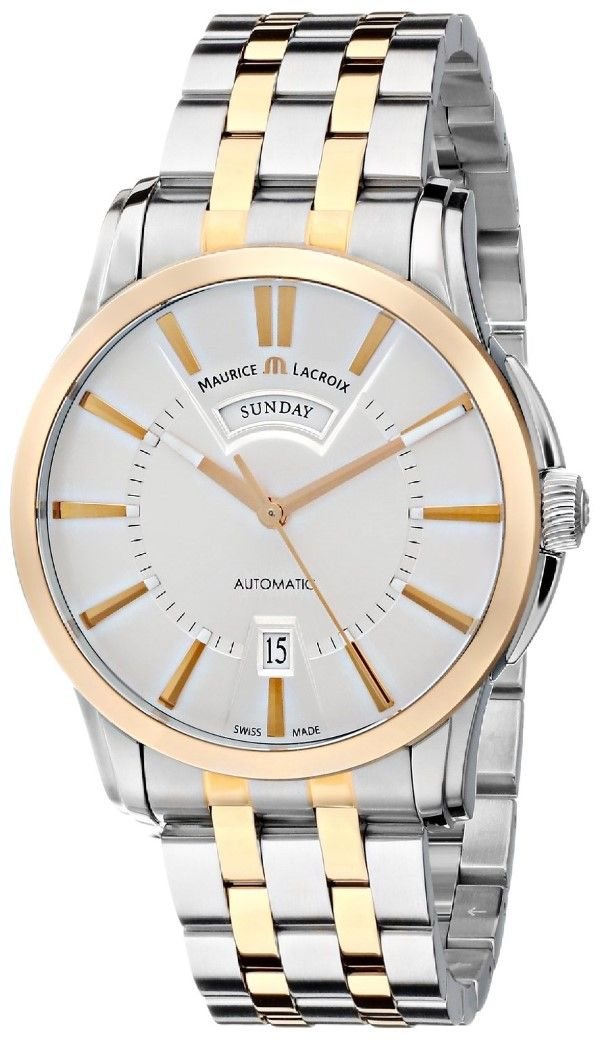 Men watches : Maurice Lacroix Men's PT6158-PS103-13E Pontos Analog Display Swiss Automatic Silver Watch