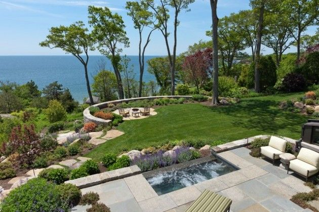 Ocean Backyards Yahoo Search Results Image Search Results Sloped Backyard Landscape Design Sloped Garden