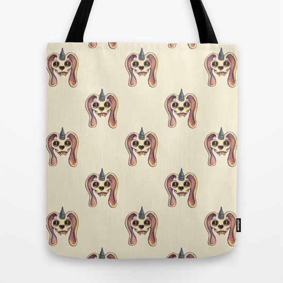 Dead rabbit Tote Bag by Sil Elorduy - $22.00