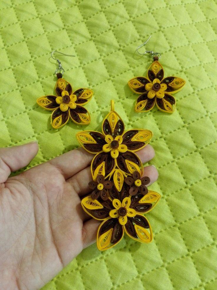 Quilling design gioielli fiore