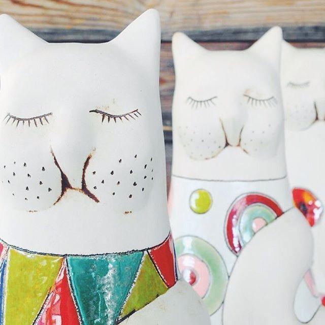 Dzień kota! #worldscatsday #dzieńkota #ceramics #handmade  #pottery #ceramika #ceramikazlanckorony #lanckorona #miau #cats #homedecor