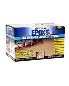 Rustoleum basement epoxy.  Do you have an ugly cement floor in your basement?  This stuff is wonderful!  You paint small 4' x 4' sections, sprinkle on paint chips, and continue.  It looks so nice!   I have a neighbor who also used the garage floor epoxy, and her garage is as nice as her house !