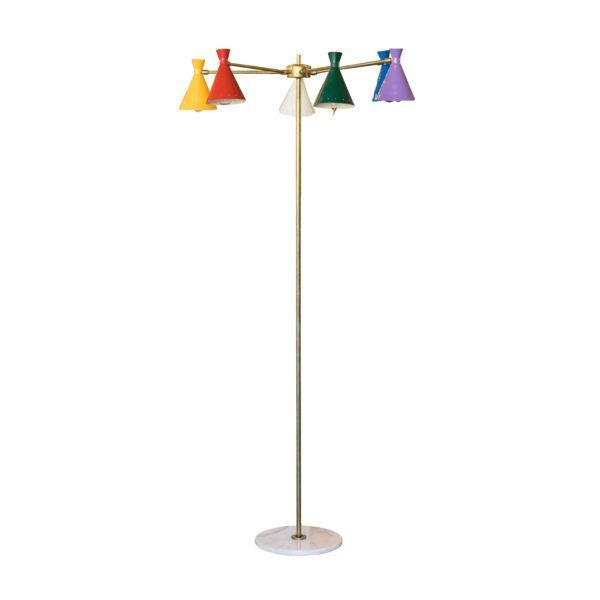 Italian Multi Arm Floor Lamp The Renner Project Floor Lamp Table