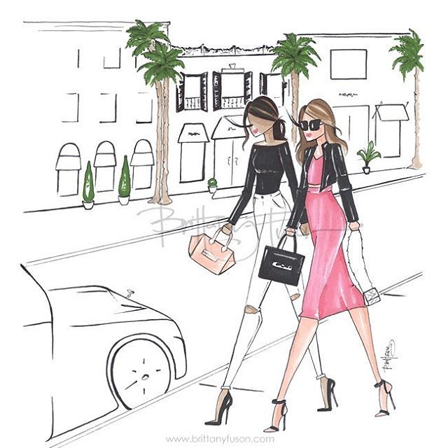 Friday afternoon stroll down Rodeo Drive with the bestie  this is one of our new designs for the @gbygiuliana collab available exclusively @hsn #rodeodrive #california #shopping #beverlyhills