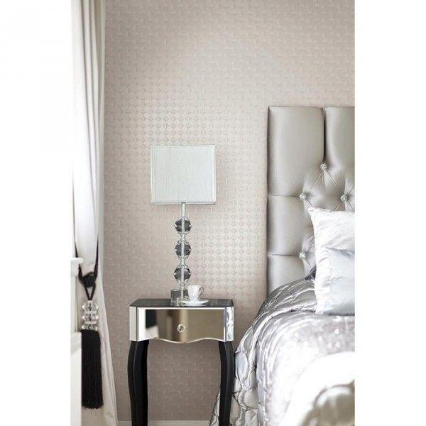 Sypialnia #glamour w odcieniach srebra.