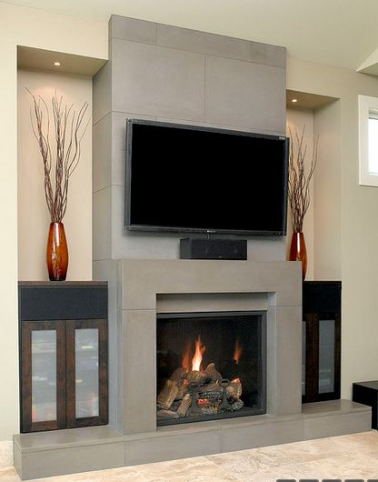 25 best ideas about fireplace facade on