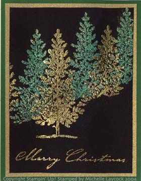 Christmas Trees by Michelle Laycock - Cards and Paper Crafts at Splitcoaststampers