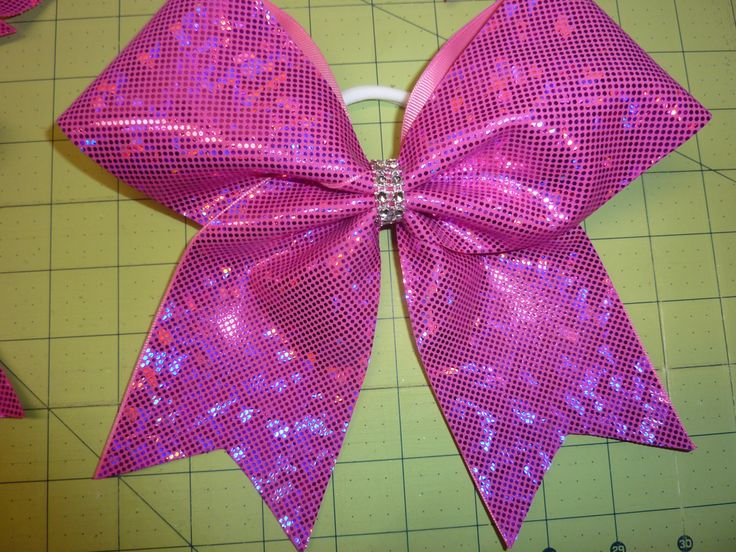 Hot Pink Shattered Glass Cheer Bow by TheCheerBowBabe on Etsy