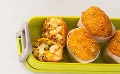 Bolitas de coditos con queso y ejote