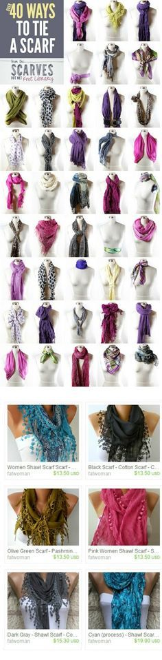 Did you know there are over 40 ways to tie a scarf?