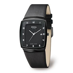 Black Sapphire Crystal Slim with Black Band & Case - 3541-03