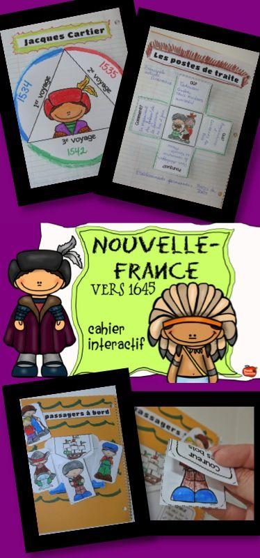 La Nouvelle-France vers 1645, des explorateurs tels que Jacques Cartier et Samuel de Champlain
