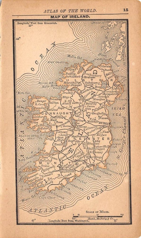 Mejores 223 imgenes de ebay items for sale mountainblessed2 en 1887 antique ireland map miniature collectible vintage map of scotland gumiabroncs Gallery
