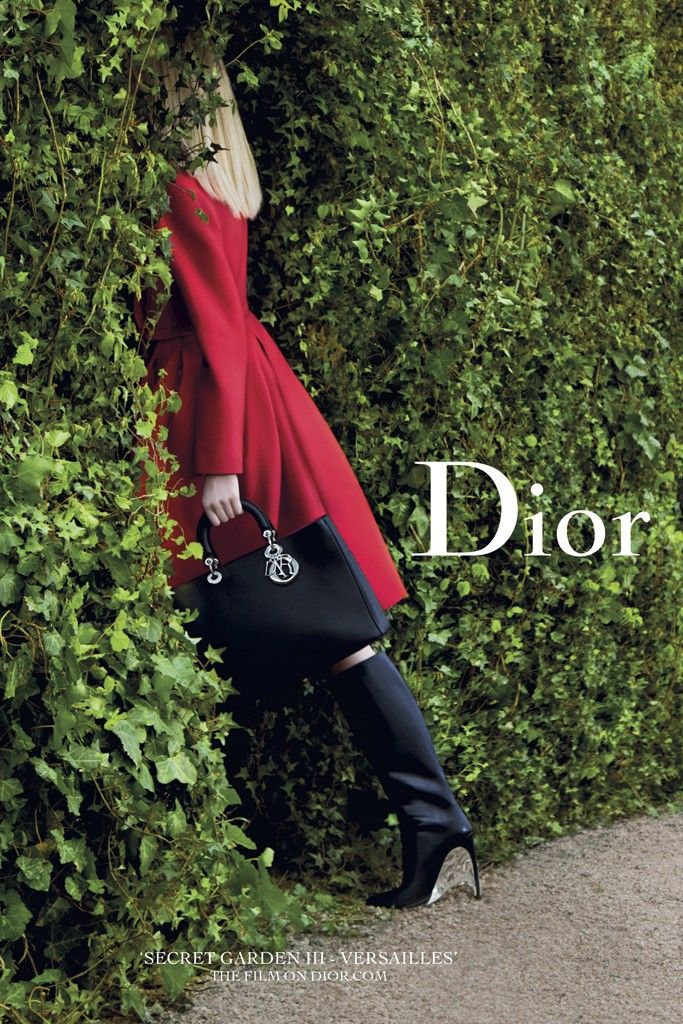 Daria Strokous for Dior Secret Garden.  Photographed by Inez & Vinoodh.