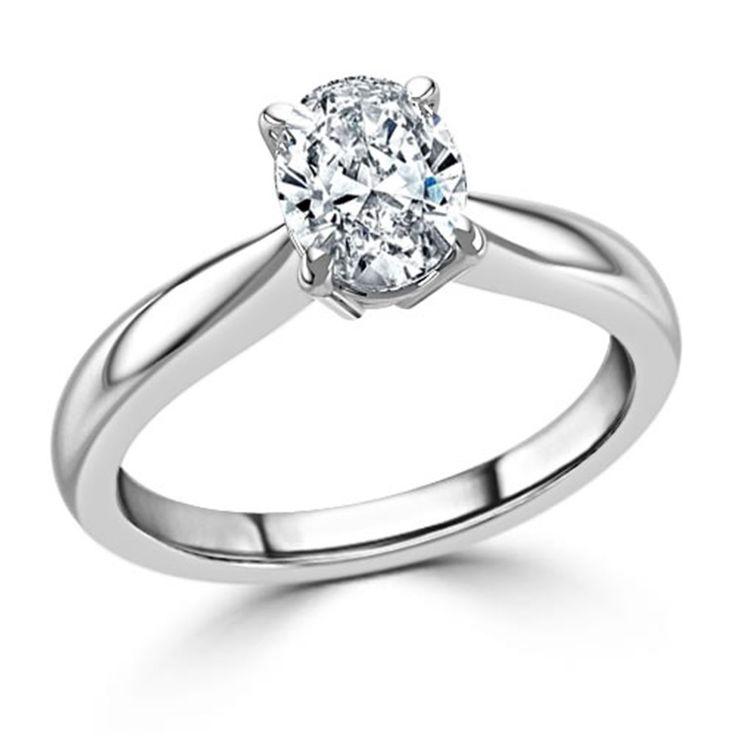 14kt Oro Blanco 2.00 CT Solitario Diamante Anillo De Compromiso Talla 6 Oval corte | Joyería y relojes, Compromiso y boda, Anillos de compromiso | eBay!