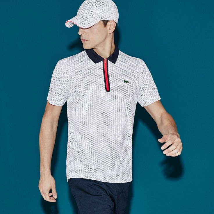 Men's SPORT Ultra Dry Zip Tennis Polo Shirt | LACOSTE