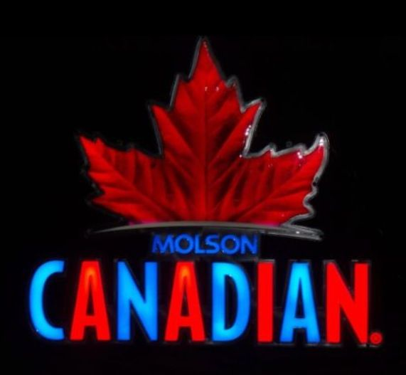 Neon Man Cave Signs Canada : Molson canadian opti neon sign signs pinterest